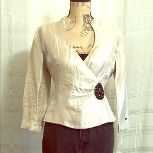 Glamorous blazer with beaded embellishment
